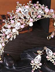 Недорогие -Хрусталь Диадемы Инструмент для волос 1 Свадьба Особые случаи Повседневные на открытом воздухе Заставка