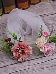 Cappello di tessuto del tulle-cerimonia nuziale occasione speciale casuale esterna delle fasce per capelli pin 1 pezzo
