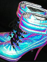 baratos -Feminino-Botas-Conforto Inovador Sapatos clube-Salto Agulha-Prata Azul-Couro-Casamento Ar-Livre Escritório & Trabalho Social Festas &