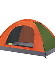 Недорогие -LINGNIU® 2 человека Световой тент На открытом воздухе Компактность Хорошая вентиляция Ультрафиолетовая устойчивость Однослойный Палатка для Походы