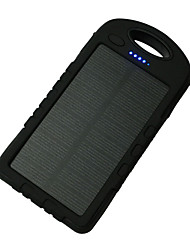 cheap -A50 8000mAh 12LED 5V1A Waterproof Power Bank with Solar Charge for Mobile Phone