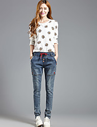 2016 nuova primavera jeans femminili allentate pantaloni harem donne significativamente sottili pantaloni stretch lunghi