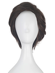 cheap -Alicia Marcus Women Unisex Adult Short Wavy Brown Color Movie Cosplay Costume Party Full Wig
