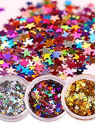 cheap -1 box laser nail glitter sequins sparkle paillette manicure nail art decoration
