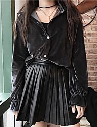 assinar 2016 versão coreana da cintura queda e Joker inverno saia de couro pu foi saias fina saia plissada vestido preto