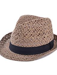 Недорогие -Для женщин Винтаж На каждый день Соломенная шляпа,Лето Соломка Однотонный