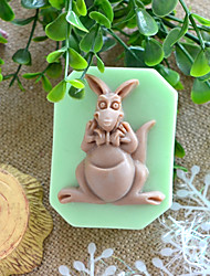 cheap -Kangaroo Shape Soap Mold DIY Silicone Soap Mold Handmade Soap Salt Carved DIY Silicone Food Grade Silicone Mold