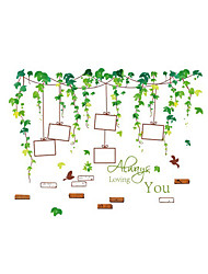 cheap -Wall Stickers Wall Decals Style Green Vine Photo PVC Wall Stickers