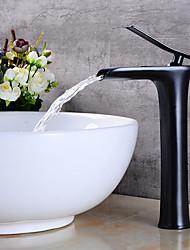 Rustique Moderne Set de centre Séparé Soupape céramique Mitigeur un trou Nickel brossé , Robinet lavabo