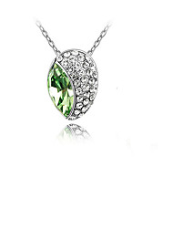 Women's Pendant Necklaces Crystal Chrome Adorable Personalized Euramerican Simple Style Rose Red Red Light Green Jewelry ForWedding Party