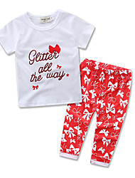 Glir Kids Clothes Leisure Suit Kids Cottom Short Sleeve T-shirt Long Pants Baby Clothing Set Dress
