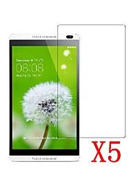 5pcs protezione dello schermo a cristalli liquidi pellicola protettiva trasparente per il pc 8 huawei MediaPad m1 / s8-303
