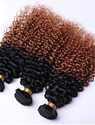 abordables -3 offres groupées Cheveux Brésiliens Bouclé / Tissage bouclé Cheveux humains A Ombre A Ombre Tissages de cheveux humains Extensions de cheveux humains