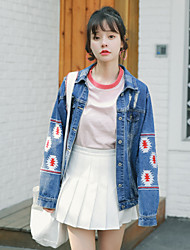 Nearby Spring Korean Institute of wind loose denim jacket female wild long-sleeved denim shirt tide