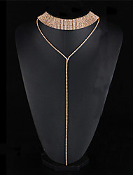 cheap -Women's Crystal Rhinestone Crystal Rhinestone Alloy Choker Necklace Collar Necklace Statement Necklace - Crystal Rhinestone Alloy