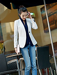 cheap -Women's Dailywear Business Street Office & Career Date Classic & Timeless Spring Fall Blazer,Solid Color V Neck Long Sleeve Regular N/A