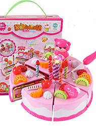 baratos -Conjuntos Toy Cozinha Comida de Brinquedo Brinquedos de Faz de Conta Brinquedos Circular Cortadores de Bolos e Bolachas Bolo PVC Para