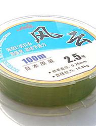Недорогие -Моноволокно Рыбацкая леска 100M / 110 ярдов 80LB 2.5 mm мм Для Обычная рыбалка