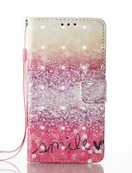 For Samsung Galaxy A3 A5 (2017) Case Cover Desert Smile Pattern Glare 3D Dimensional Glossy PU Material Stent Card Holster A3 A5 (2016)