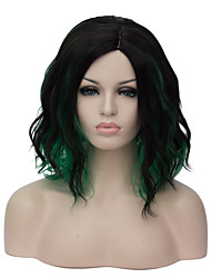 European and American fashion daily fresh noodles party wigs cos to blackish green gradient  1907
