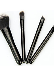 cheap -4 Powder Brush Foundation Brush Makeup Brush Set Blush Brush Eyeshadow Brush Lip Brush Synthetic Hair Travel Professional Full Coverage