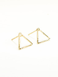 Non Stone Geometric Triangle Shape Stud Earrings Jewelry Geometric Euramerican Fashion Personalized Daily Casual Copper 1pc