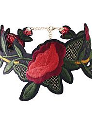 Dame Kort halskæde Blomstformet Blomster Blomstret Smykker Til Bryllup Fest Speciel Lejlighed Fødselsdag Daglig Afslappet