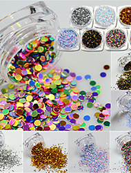 9 bottle/set Chiodo decorazione di arte strass Perle Cosmetici e trucchi Fantasie design per manicure