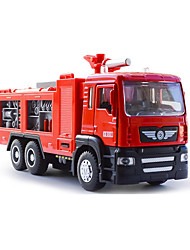 Die-Cast Vehicles Pull Back Vehicles Toy Cars Fire Engine Vehicle Metal Alloy Plastic Metal Children's Kids Gift Action & Toy Figures