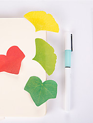 cheap -1 PCS Leaf Shape Self-Stick Notes Set