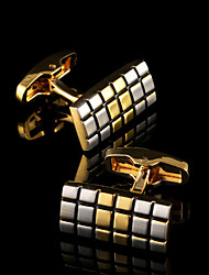 cheap -Geometric Golden Cufflinks Copper Pattern / Classic / Gift Boxes & Bags Men's Costume Jewelry For Party / Business / Ceremony / Wedding