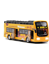 cheap -Toy Cars Construction Vehicle Toys Simulation Pull Back Vehicles Music & Light Bus Toys Metal Alloy Plastic Metal 1 Pieces Kids Gift