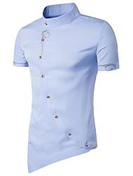 preiswerte -Herrn Solide - Retro Sport T-shirt, Ständer Baumwolle
