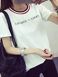 # 6007 verdadeiro tiro no início da primavera 2017 pequeno verão fresco novo aluno feminino coreano t-shirt de manga curta carta de cor