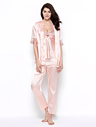 cheap -Women's Suits Satin & Silk Robes Lace Lingerie Babydoll & Slips Nightwear - Sexy, Jacquard