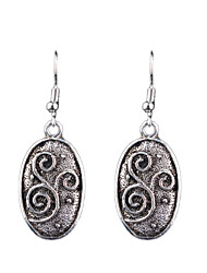 cheap -European And American Fashion Retro Carved Alloy Earrings