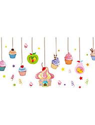 Недорогие -Мода Геометрия Продукты питания Наклейки Простые наклейки Декоративные наклейки на стены, Винил Украшение дома Наклейка на стену Пол Стена