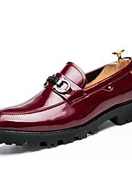 Недорогие -Для мужчин Туфли на шнуровке Светодиодные подошвы Весна Лето Дерматин Для фитнеса Повседневные На плоской подошве Черный Синий Винный На