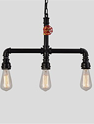 cheap -Vintage Industrial Pipe Pendant Lights Creative Lights Restaurant Cafe Bar With 3 Light Painted Finish