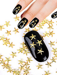 50pcs 3D Nails Accessories Ocean Style Alloy Gold Starfish 5*5mm Design Beauty Manicure Decoration