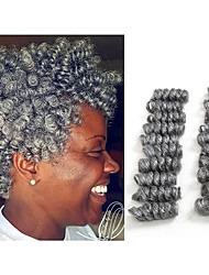 cheap -Crochet Bouncy Curl Twist Braids Hair Extensions Kanekalon Hair Braids