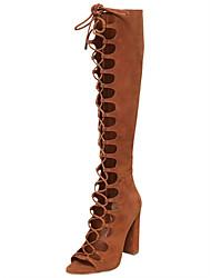 Da donna-Stivaletti-Tempo libero Formale Casual Serata e festa-Comoda Innovativo Alla schiava Club Shoes-Quadrato Heel di blocco-