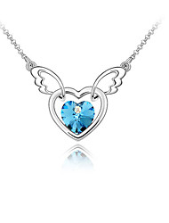 cheap -Women's Personalized Love Heart Fashion Euramerican Pendant Necklace Crystal Chrome Pendant Necklace , Wedding Party Congratulations