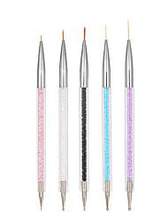 abordables -5pcs Autocollant d'art de clou Guide Conseils français Maquillage cosmétique Nail Art Design