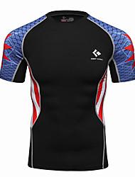 economico -Realtoo Per uomo T-shirt da corsa Manica corta Asciugatura rapida Top per Esercizi di fitness Corsa Terital Taglia piccola M L XL XXL