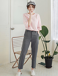 17 years Sign spring models pantyhose straight jeans trousers casual pants wild