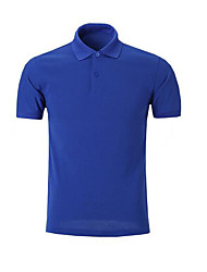 cheap -Men's Sports Casual Cotton Polo - Solid Color Modern Style Shirt Collar / Short Sleeve