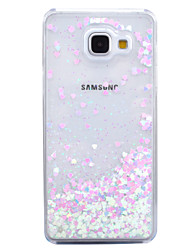 preiswerte -Für Mit Flüssigkeit befüllt Transparent Hülle Rückseitenabdeckung Hülle Glänzender Schein Hart PC für Samsung A7(2016) A5(2016)