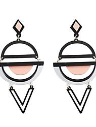 baratos -Mulheres Brincos Compridos - Personalizada, Acrilíco, Fashion Amarelo / Verde / Rosa+Branco Para Casamento / Festa / Diário