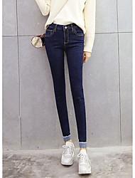 qualità punto segno 2017 nuovo jeans della vita piedi matita pantaloni collant di curling